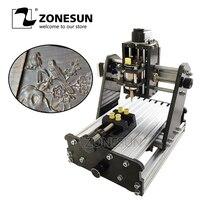 ZONESUN 3 оси Мини Diy ЧПУ гравировальный станок PCB фрезерный гравировальный станок резьба по дереву станок с ЧПУ управление