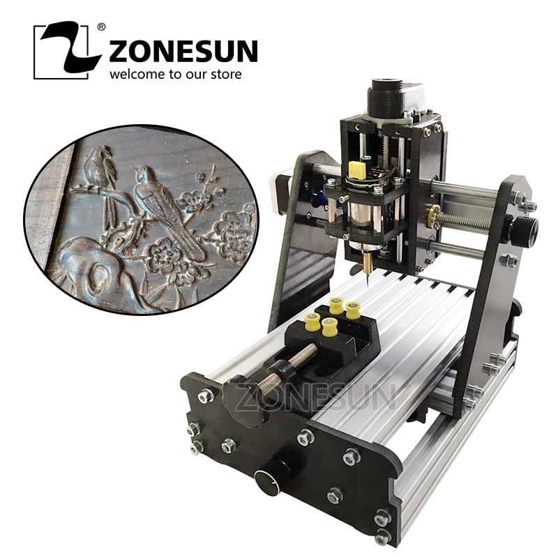 ZONESUN 3 axes Mini bricolage CNC Machine de gravure PCB fraisage Machine de gravure sur bois sculpture Machine CNC routeur contrôle de CNC