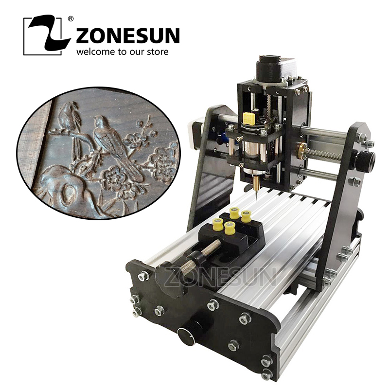 ZONESUN 3axis Mini Diy Cnc Engraving Machine PCB Milling Engraving Machine Wood Carving Machine Cnc Router Cnc Control