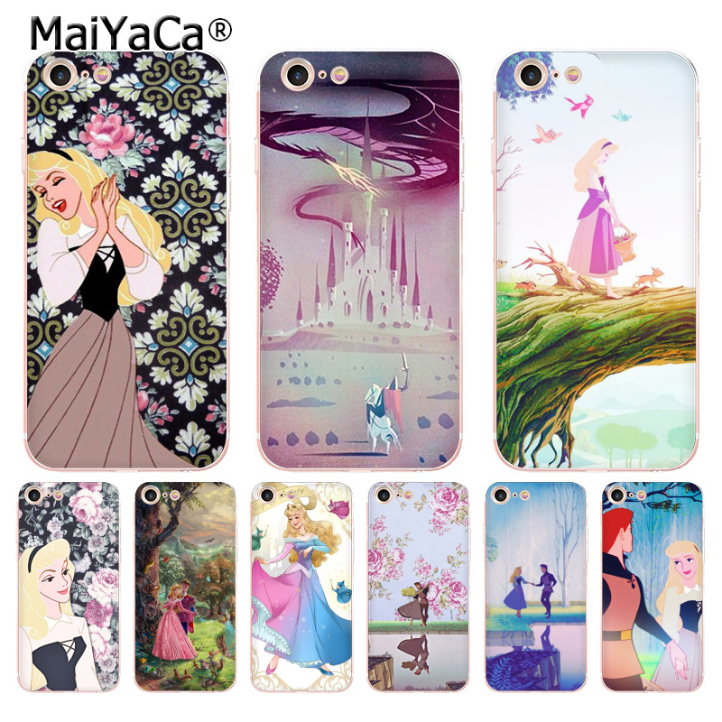 MaiYaCa Sleeping Beauty DANCING transparent soft tpu phone case cover for iPhone X 6 6s 7 7plus 8 8Plus 4 4S 5 5S 5C case coque