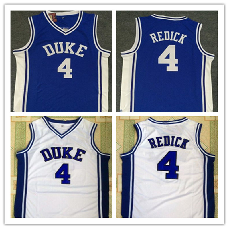 ФОТО #4 JJ Redick Duke Blue Devils Throwback Jersey blue white Retro Basketball Jersey New Material Top quality embroidery jersey