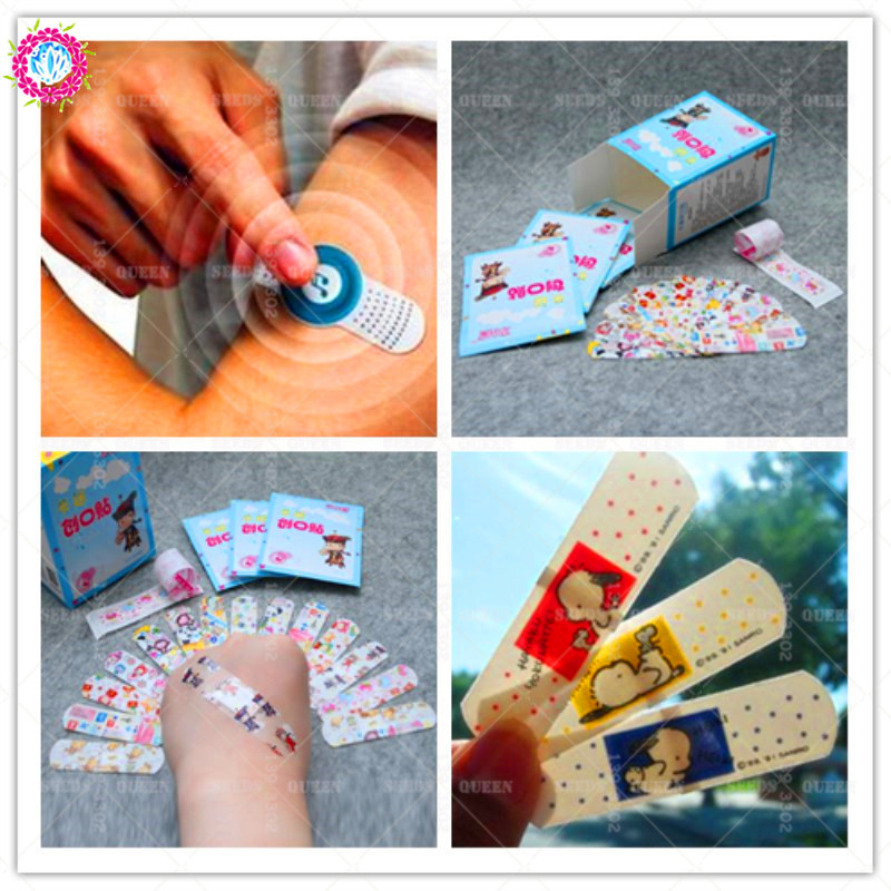 10pcs/bag Waterproof Breathable Cute Cartoon Band Aid Complexion Hemostasis Plaster Adhesive Bandages Emergency Kit Drug For Kid