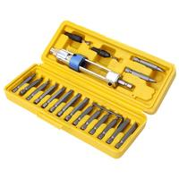 20Pcs Half Time Drill Driver Multi Screwdriver Sets Updated Version 16 Different Kinds Head With Countersink