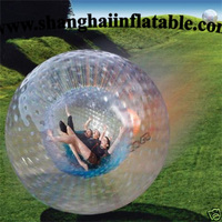 PVC or TPU material inflatable human hamster ball zorb ball for adults