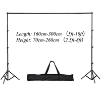 Funnytree 3*2.6m/10*8ft photography Backdrops stand Background Support System with 2 light stands+1cross bar+big bag 1