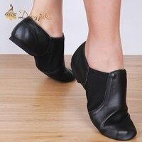 Dongjak ג 'אז מתיחת עור אמיתי נעלי בלט ג' אז נעלי ריקוד לטיני סלסה לנשים נעל סנדלי ריקוד של מורים Excercise