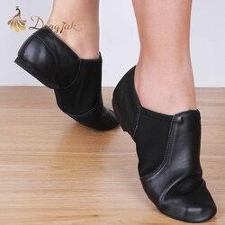 Dongjak جلد طبيعي تمتد الجاز اللاتينية الرقص أحذية السالسا للنساء الجاز حذاء راقصة البالية المعلمين الرقص الصنادل Excercise حذاء