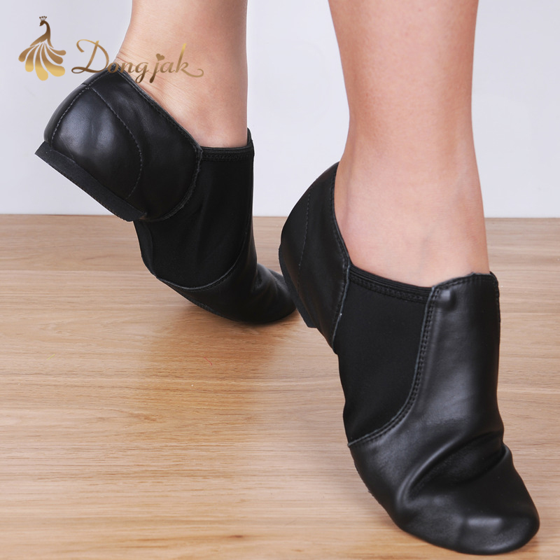 Dongjak Cuero Genuino Estiramiento Jazz Latin Dance Shoes Salsa Para Mujeres Jazz Ballet Shoes Teachers's Dance Sandals Calzado de ejercicio