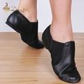 Dongjak Genuine Leather Stretch Jazz Latin Dance Shoes Salsa For Women Jazz Ballet Shoes Teachers's Dance Sandals Excercise Shoe