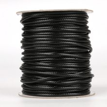 5-10meter/roll 2,5mm/3mm/3,5mm/4mm/5mm koreanische Runde Gewachste Schnur Halskette Seil Leder Cord Gewinde Für Schmuck Machen Zubehör