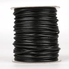 5-10 metros/diámetro del rollo 2,5mm/3mm/3,5mm/4mm/5mm cordón encerado redondo coreano collar de cordón de cuero hilo para la fabricación de joyas Accesorios