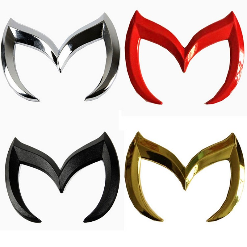 Universal 3D Car Stickers and Decals For Mazda Cars Auto Emblem Logo Car Vinyl Car Accessories 4 Colors-in Car Stickers from Automobiles & Motorcycles