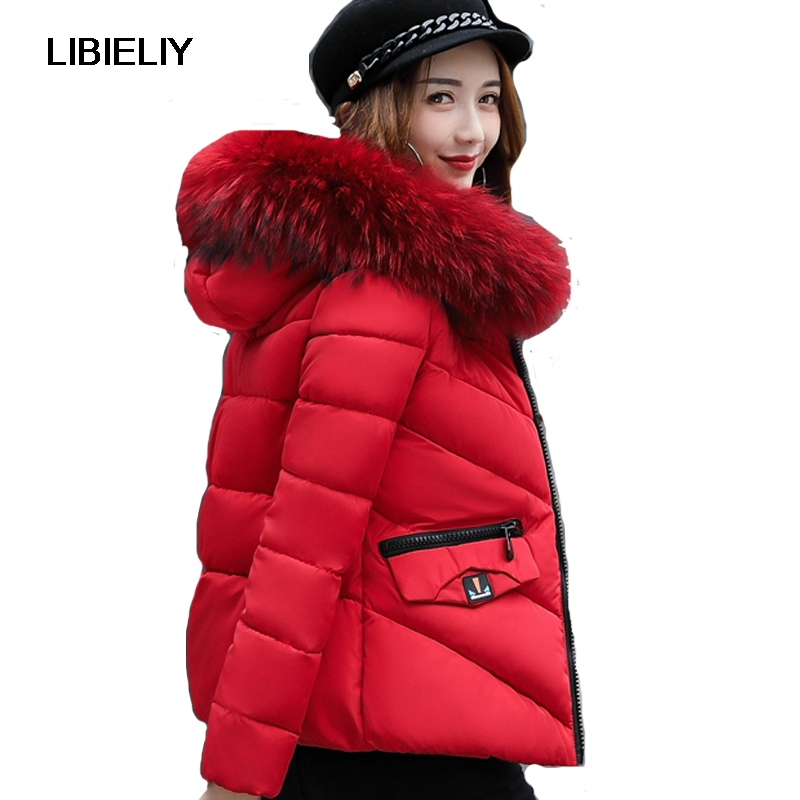 Nice High Quality Women Winter Short   Basic     Jacket   Warm Female Fur Collar Coat Outerwear Solid Jaqueta Feminino Camperas