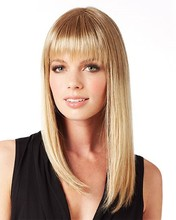 2017 Promotion Perruque Cheveux Humain French Silk Golden Bob Wig Brazilian Lace Long Straight Blonde Human Wigs Freeshipping
