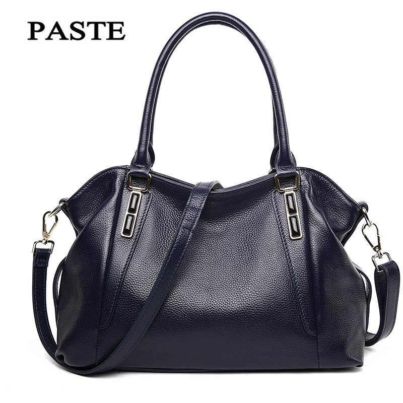 Sapphire Decoration PASTE Famous Brand First Layer Genuine leather women handbags High quality shoulder messenger bags Tote bag