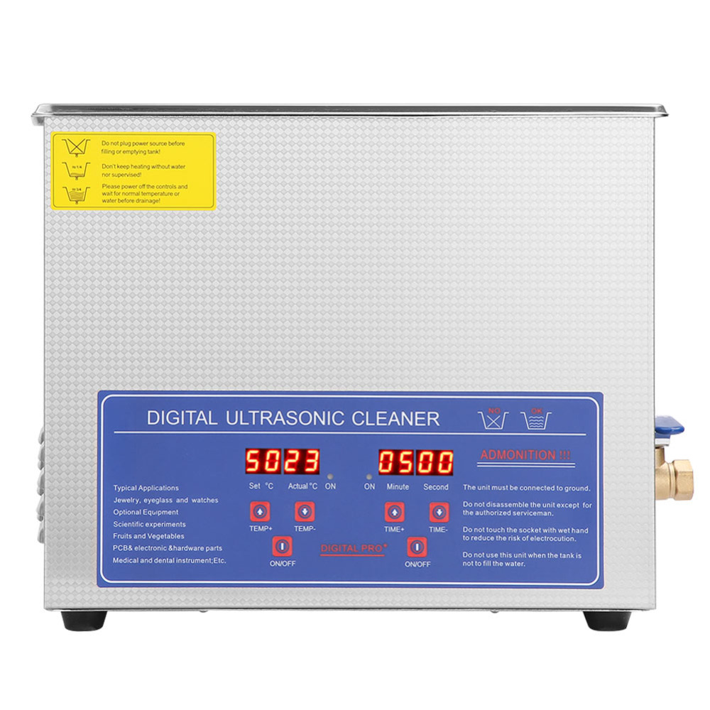 10L Digital Stainless Ultrasonic Cleaner Uitra Sonic Bath Cleaner Timer Heater Ultrasonidos Limpiador Local Fast Shipping