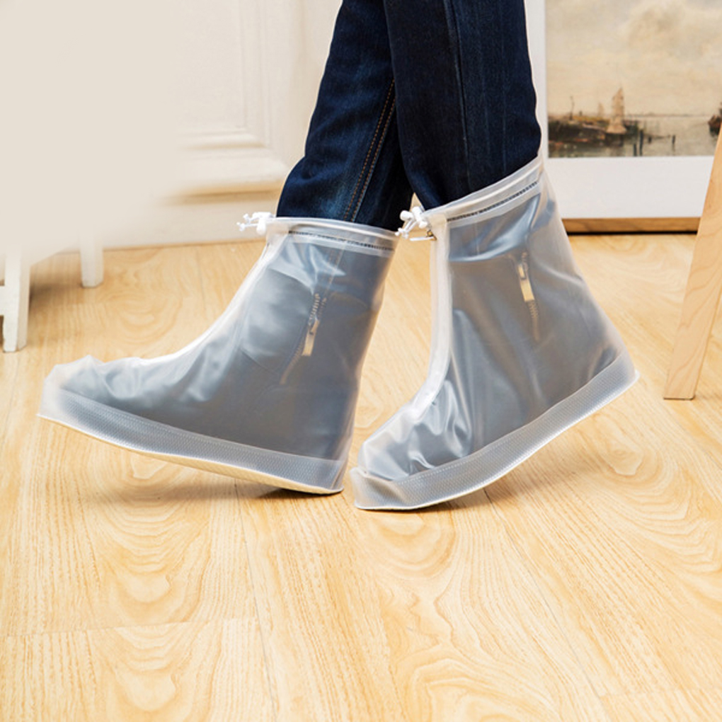 New Arrived Outdoor Hiking Walking Rain Shoes Cover Transparent Waterproof Rainproof Boots Cover