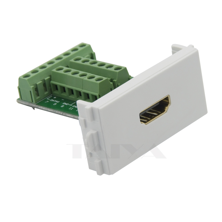 HDMI Multimedia Connector Wall Plate With Screw Connection