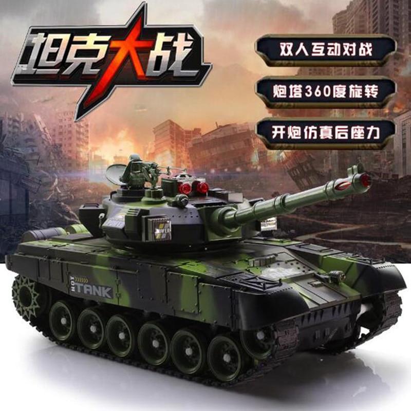 Charge télécommande réservoir modèle russe T90 camouflage bataille réservoir voiture tout-terrain électrique enfants jouet 33 cm
