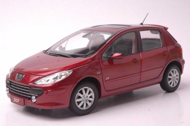 1:18 Diecast Model for Peugeot 307 Red Hatchback Alloy Toy Car ...