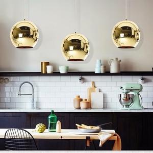 Image 2 - LukLoy Ayna Cam Modern Kolye Işık mutfak ışığı Fikstür Yemek Odası Bağbozumu Asılı Lamba Başucu Hanglamp Modern Lamba