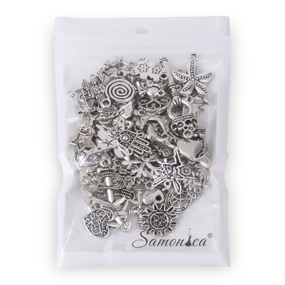 40Pcs Wholesale Bulk Tibetan Silver Mix Pedants Charms Bracelets Necklace Clothing Jewellry Making Findings