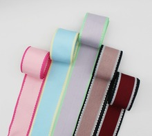 Saddle Multicolor Stitch Grosgrain Ribbon Contrast Color Trim Crochet Patterns 100% Polyester Fabric For DIY Hairbows DIY Making