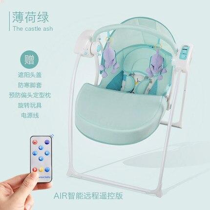 Chaise berçante intelligente chaise bébé confort balancelle électrique intelligente chaise berçante bébé avec berceau sommeil bébé - 2