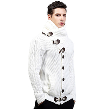 Brand Autumn Winter Fashion Casual Cardigan Sweater Coat Men Loose Fit 100% Acrylic Warm Knitting Clothes Sweater Coats Men