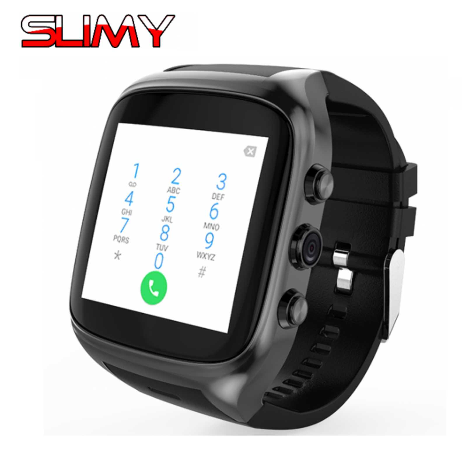 Slimy X02S Android 5.1 Smart Watch Smartwatch Wristwatch MTK6580 8G ROM 512 RAM 3G SIM WiFi Sport Fitness 2MP Camera GPS Watch ip68 waterproof android gps smart watch smartwatch wristwatch 3g sim wifi sport fitness 5mp camera h1 steel strap smart watch