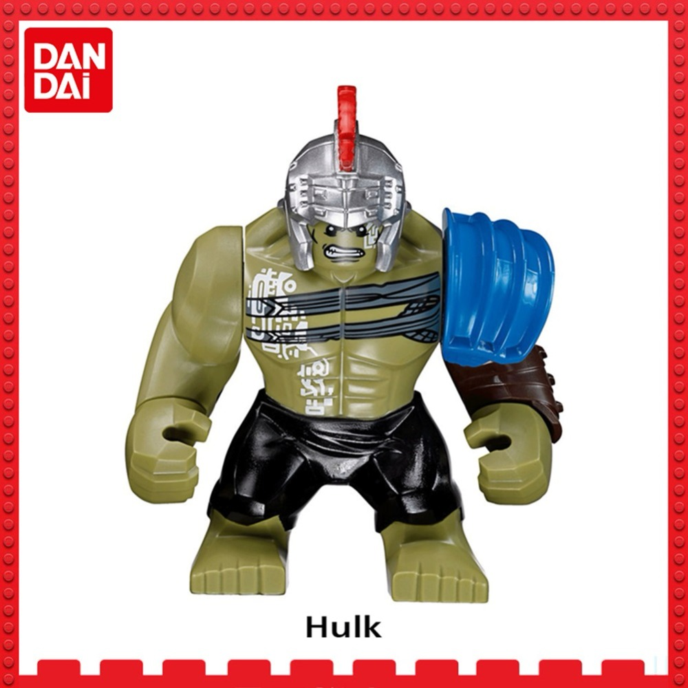 Big Hulk Marvel Super Heroes Avengers3 Wonder Woman flash DC Batman Thanos Spider-Man Building blocks Toys Figures for legoing цена