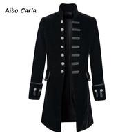 Mens Brocade Jacket Gothic Steampunk Vintage Victorian Coat Top Male Vintage Jacket 2018