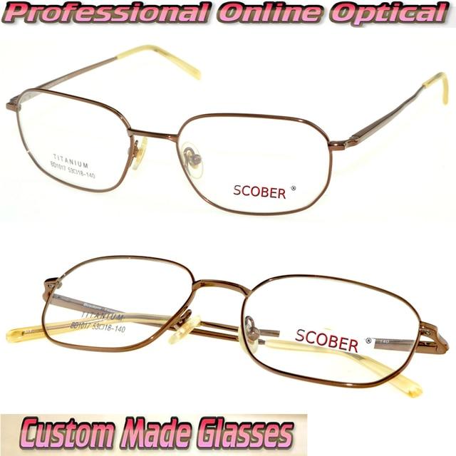 Pure titanium ultra light brown eye frame Optical Custom made ...