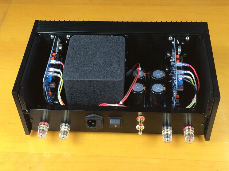 Classic QUAD405 Clone Power amplifier Audio amp 100W+100W ONSEMI MJ15024  L165-47