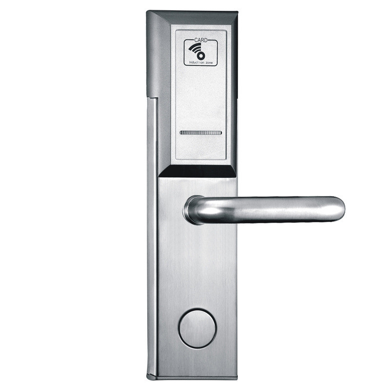 New stainless steel  RFID hotel lock  Swipe by Card hotel keycard door lock professional manufacture hotel lock intelligent rfid card hotel lock for hotel stainless steel et6001rf