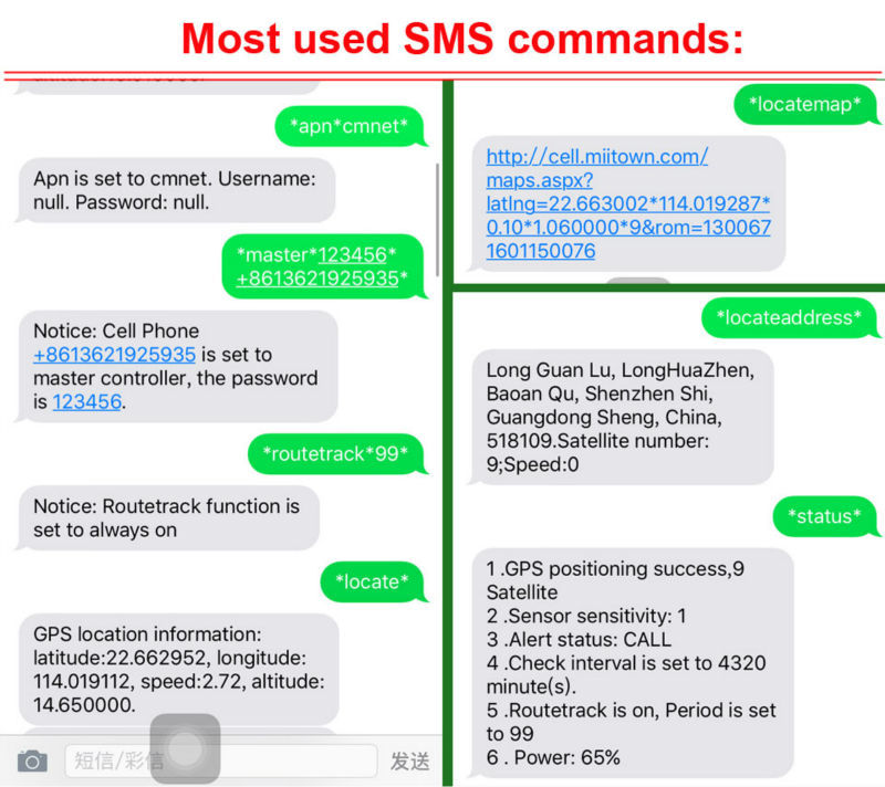 SMS Commands