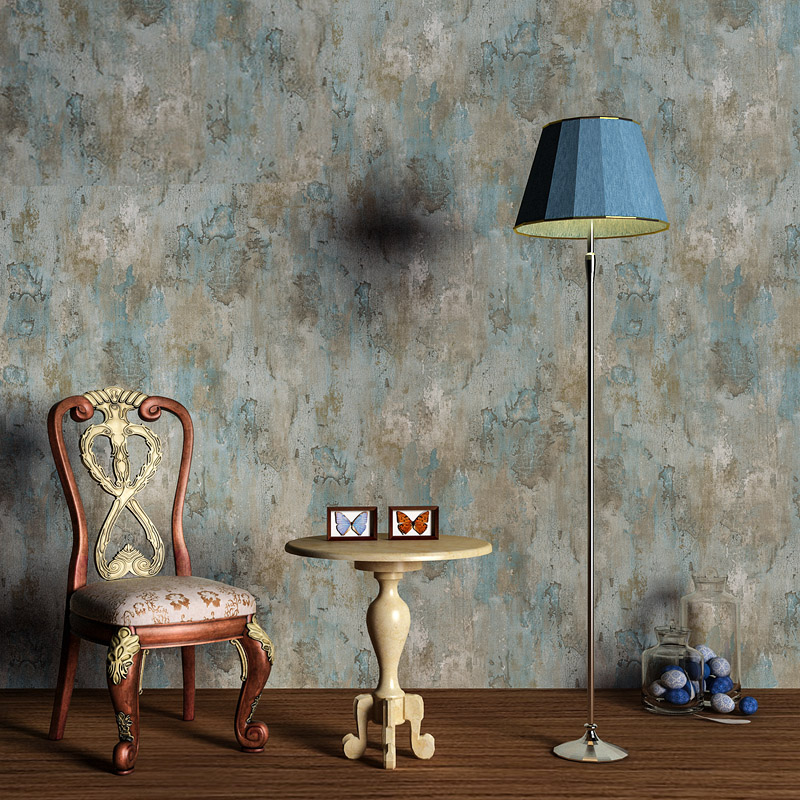 Vintage Retro Grey Cement Wallpaper Modern Simple 3D Blue Mottled Texture Wall Paper Bedroom Restaurant Cafe Backdrop Wall Decor vintage wallpaper modern 3d embossed imitation wood texture wall paper rolls for walls restaurant cafe background wall cocvering