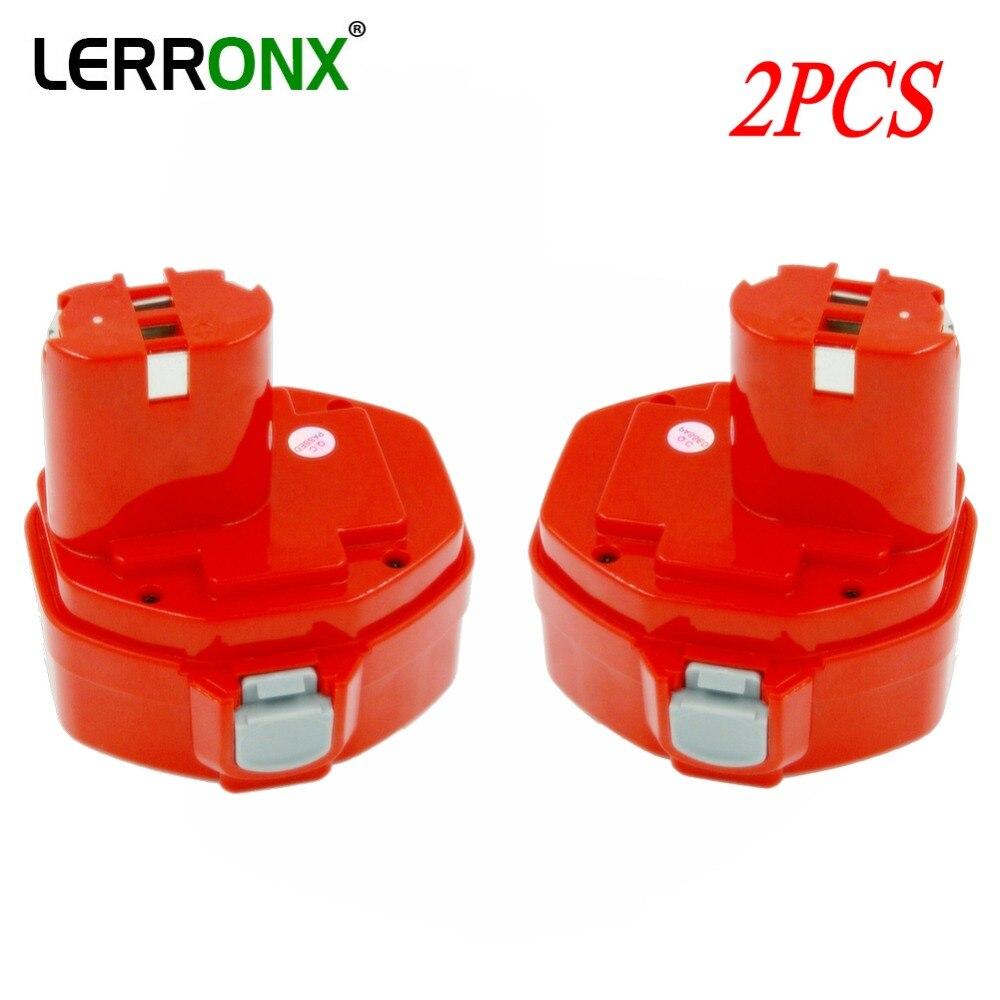 2 pièces batterie de rechange Rechargeable ni-cd 14.4 V 3000 mAh pour Makita outils électriques 6381D 6337D piles nicd 1420 1433 1435 1434