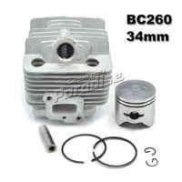 BC260 26CC فرشاة القاطع اسطوانة كيت مع مكبس مكبس الدائري ل cg260 الانتهازي آسى أجزاء محرك 1e34f 34 ملليمتر