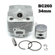цена на BC260 Brush Cutter Cylinder Kit with Piston Assy Piston Ring for CG260 Grass Trimmer 1E34F 34MM Engine Parts