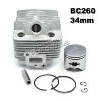 BC260 Brush Cutter Cylinder Kit With Piston Assy Piston Ring For CG260 Grass Trimmer 1E34F 34MM
