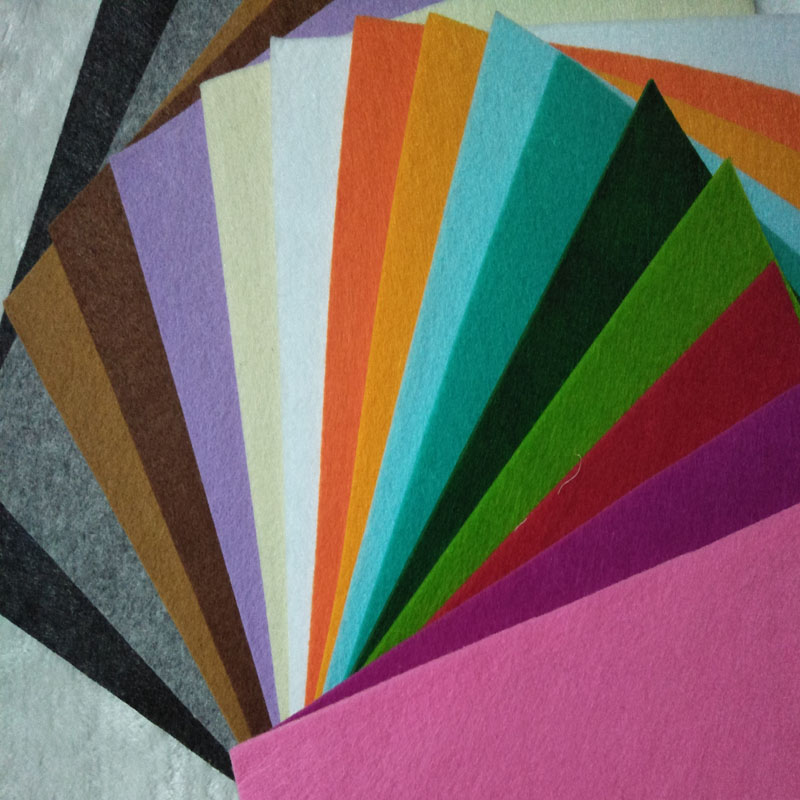 30x30cm 16 Colors Selection 3MM Thickness Felt Fabric Polyester DIY Felt Fabric Non-woven For DIY Sewing