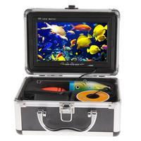 30 м Профессиональный Рыболокаторы Подводная охота Видео Камера 7 Цвет HD монитор ночного видения 1000TVL HD CAM W /солнцезащитный козырек