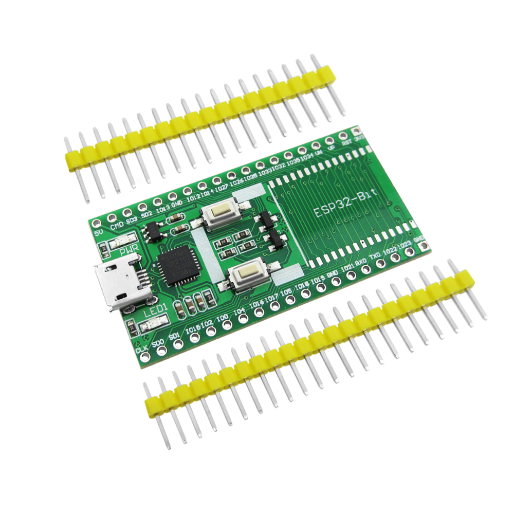 ESP32-T Shield ESP32-Bit Development Board Compatible For ESP-32S Bluetooth WiFi Module ESP32S Wireless Board pn532 nfc rfid shield module breakout board development board expansion board silver