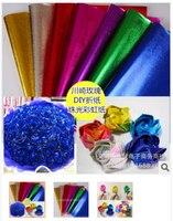 Gratis Verzending Groothandel 7 kleuren 50*70 cm Diy Origami Papier Bloem Meterial Handgemaakte Papier Rose
