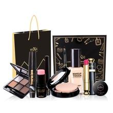 9 PCS Makeup Set Gift Make-up Set Of Cosmetics Kit Maquiagem Make Up Kit Facial Concealer Powder Eyeshadow Lipstick Eyeliner Set