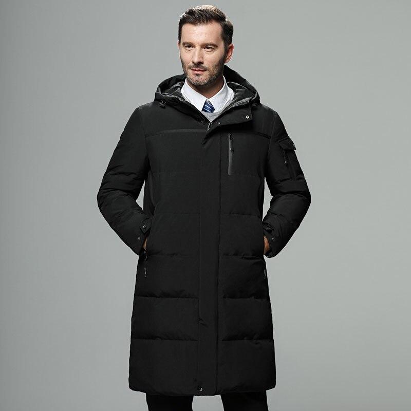 2018 New Fashion Autumn Winter Outwear Down Jacket Men Windproof Waterproof Duck Down Parka Male X-Long Thick Warm Coat M-5XL