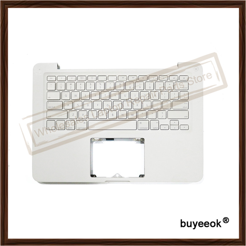 Original Used A1342 White Fair Palm Rest Top Case With US Keyboard Topcase for MacBook 13 A1342 2009 2010 Tested Well original new laptop a1708 palm rest repair for macbook retina pro top housing case cover us layout 13 inch 2016 year replacement