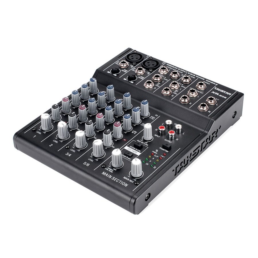 takstar xr 208 mixer console digital mixer premium 8 input 2 bus mixing console use for audio. Black Bedroom Furniture Sets. Home Design Ideas