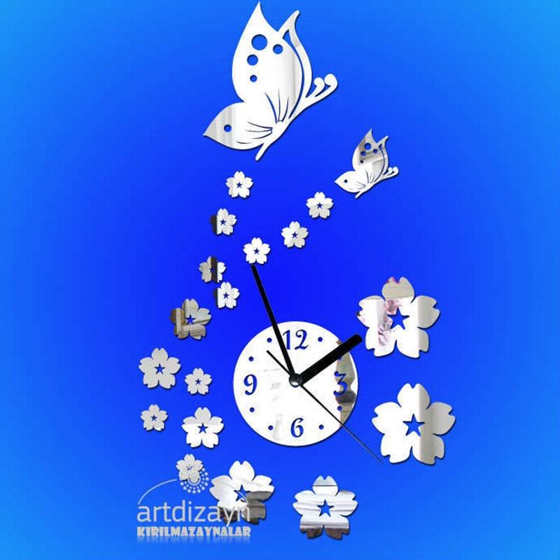Butterfly 2016 New Modern 3d <font><b>Home</b></font> <font><b>Decor</b></font> Quartz DIY Wall Clock Clocks Horloge Watch Living Room <font><b>Elegant</b></font> Designed Freeshiipping